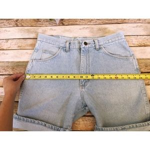 Wrangler Shorts - Vintage Wrangler High Waisted Shorts Light Wash